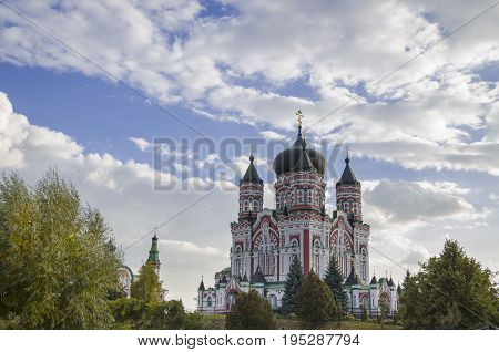 Orthodox Church St. Panteleimon Cathedral Cathedral Theophany Park is one of the most beautiful places in Kiev the capital of Ukraine.