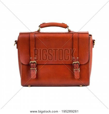 Business concept: briefcase isolated on white background