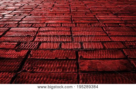 Red, red brick, red brick wall, red brickwork. Abstract image of a red brick wall. Red brick wall background. Brick, brick background, brick texture. Red wall. Red background.