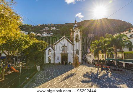 Igreja Matriz de Sao Bento Ribeira Brava village Madeira island Portugal.