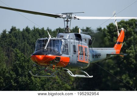 Bell 212 Helicopter Flying