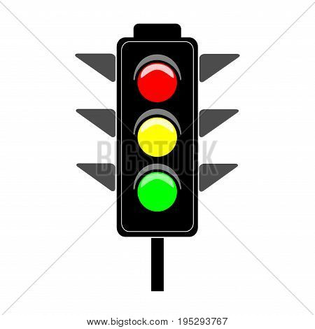 Stoplight Sign Icon Vector Photo Free Trial Bigstock