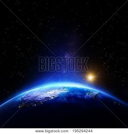 South Africa. Elements of this image furnished by NASA