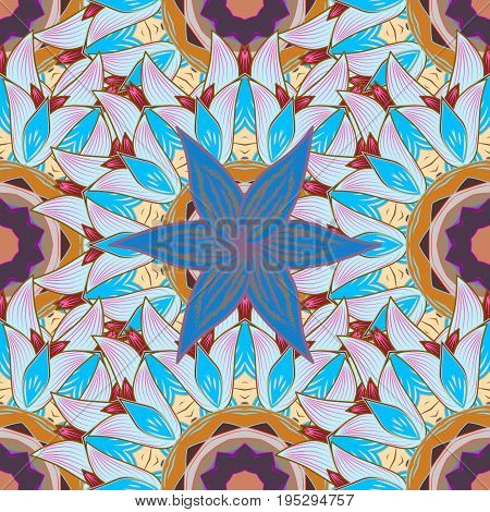 Vector cute pattern in small flower. Spring floral background with flowers. Motley illustration. The elegant the template for fashion prints. Small colorful flowers.