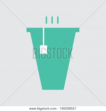 Hot tea in cup vector sketch icon isolated on background. Hand drawn Hot tea in cup icon
