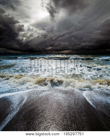 Ocean storm. Tropical hurricane cyclone image background