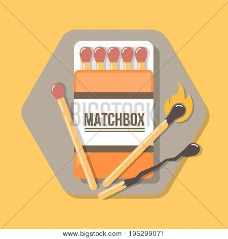 matchbox icon in flat style. Icon for web and print.
