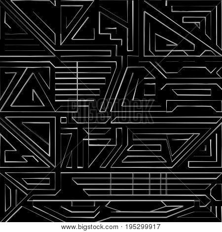Creative abstract lines on a black background