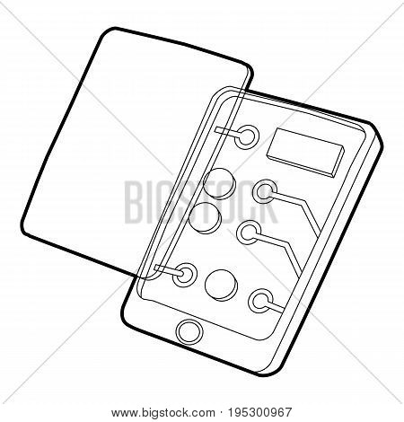 Gadget disassembled icon. Outline illustration of gadget disassembled vector icon for web design