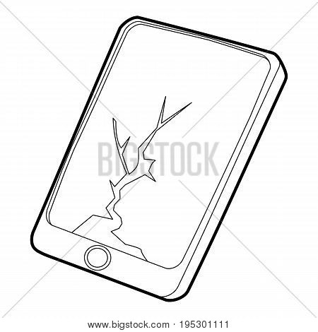 Gadget crack screen icon. Outline illustration of gadget crack screen vector icon for web design