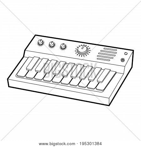 Synthesizer icon. Outline illustration of synthesizer vector icon for web design