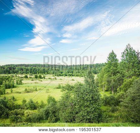 Summer beautiful landscape. Outdoor non-urban panorama image