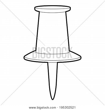 Thumbtack icon. Outline illustration of thumbtack vector icon for web design