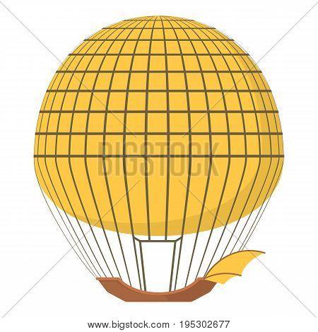 Aerostat icon. Cartoon illustration of aerostat vector icon for web design