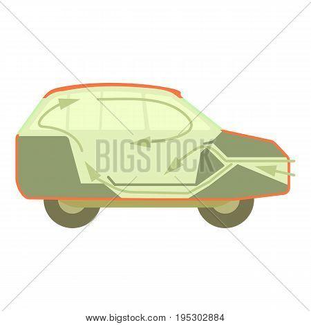 Car air ventilation icon. Cartoon illustration of car air ventilation vector icon for web design