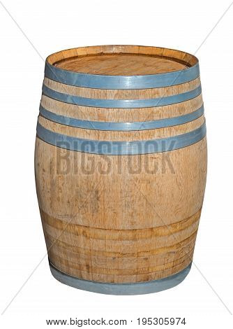 the big new barrel over white background