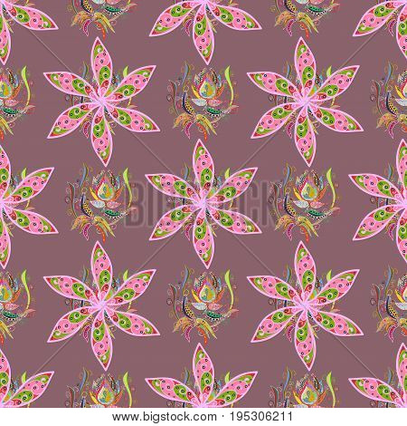 Seamless pattern with blue flowers. Floral watercolor seamless background. Vector textile print for bed linen jacket package design fabric and fashion concepts.