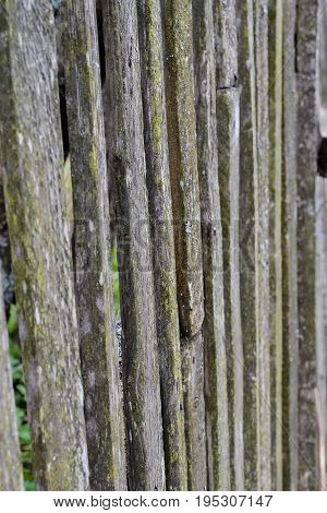 Old wooden fence background in black and white