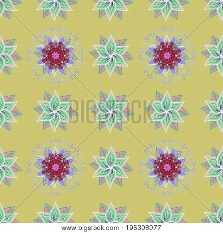 Spring floral background with flowers. The elegant the template for fashion prints. Small colorful flowers. Motley illustration. Vector cute pattern in small flower.