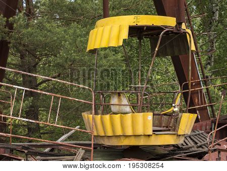 Detail of Abandoned Ferris Wheel in Chernobyl Exclusion Zone