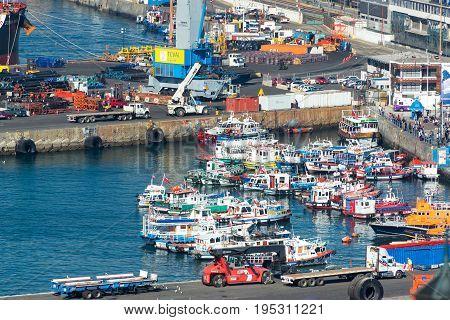 Boats In Valparaiso