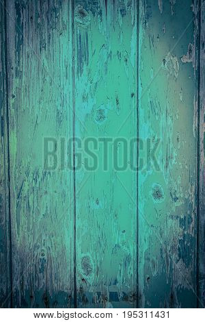 Green wooden rustic background with old planks