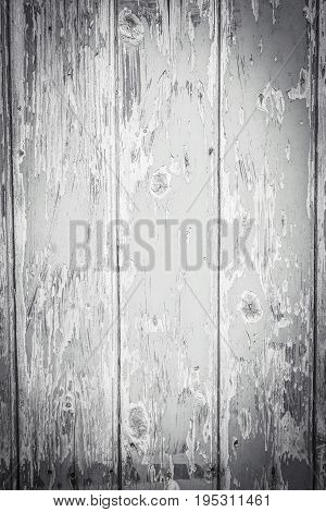 Gray wooden rustic background with old planks