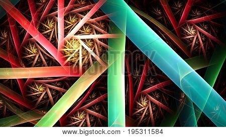 3D surreal illustration. Sacred geometry. Mysterious psychedelic relaxation pattern. Fractal abstract texture. Digital artwork graphic astrology magic