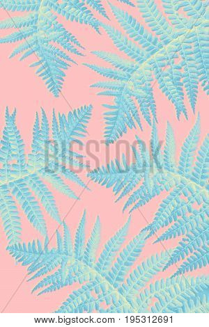 Beautiful Exotic plants background with fern leaves