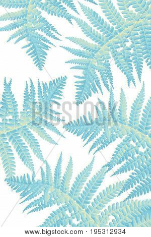 Beautiful Artistic background with fern blue leaves