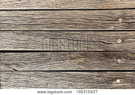 Wooden planks with a distinctive drawing and patina. Old natural wooden shabby background close up old wood background texture of bark wood. Wooden floor base. Concept of wood.