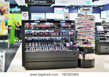 KRAKOW POLAND - JUNE 2017: Douglas Perfume Shop