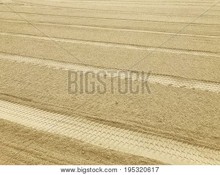 sifted sand. Sand beach after cleaning. background of sand