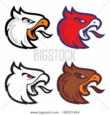Angry eagle sport mascot  for college team