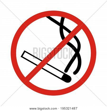 No smoking sign. No smoking zone. Vector.