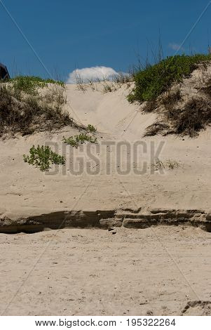 View of Jockey's Ridge Sand Dune in the Outer Banks, North Carolina.