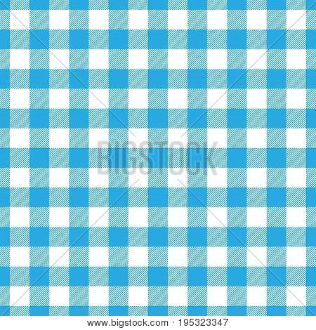 Lumberjack plaid pattern in blue and black. Seamless vector pattern. Simple vintage textile design.