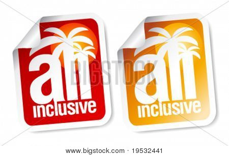 All inclusive labels set.