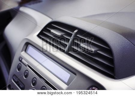 Car air conditioner in the front interior passenger for adjust airflow selective focus Automotive part concept.