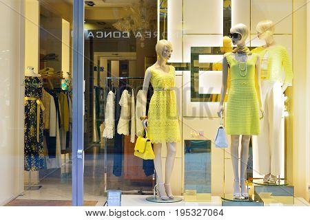 VERONA ITALY - MAY 2017: Italian women's clothing store