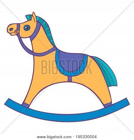 Children s rocking chair. Horse for small children. rocking horse. Vector illustration