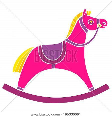Childrens rocking chair. Horse for small children. rocking horse. Vector illustration