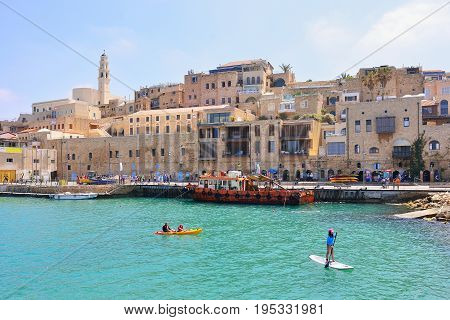 TEL AVIV ISRAEL - APRIL 2017: Old town and port of Jaffa of Tel Aviv city Israel.