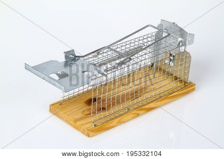 Mouse Trap on bright background. Shot in Studio.