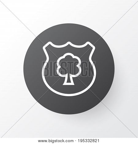Protect Forest Icon Symbol. Premium Quality Isolated Timber Element In Trendy Style.
