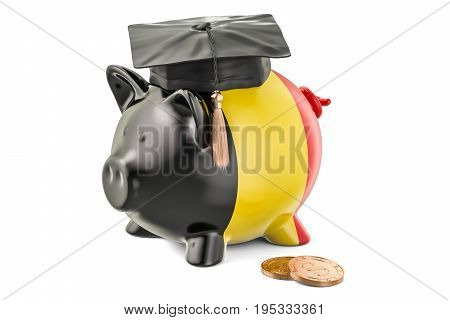 Savings for education in Belgium concept 3D rendering isolated on white background