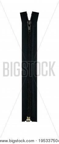 The zipper isolated on white a background