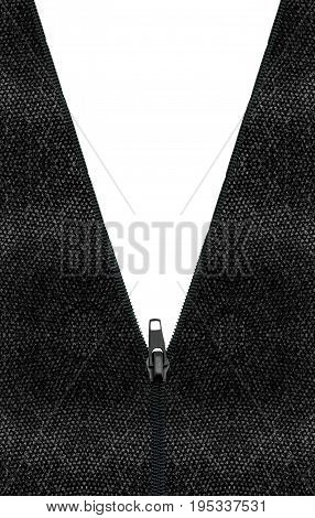 zipper isolated on white. background clipping part