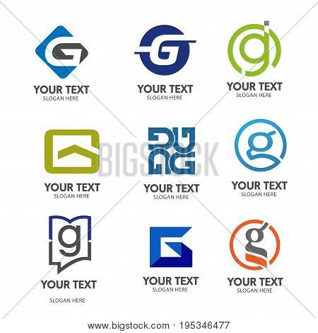 letter G logo vector,elegant concept of  letter G logo  set vector