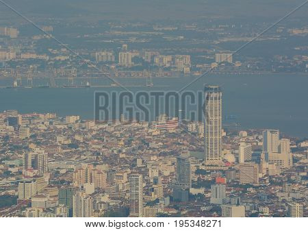 Cityscape Of George Town In Penang, Malaysia
